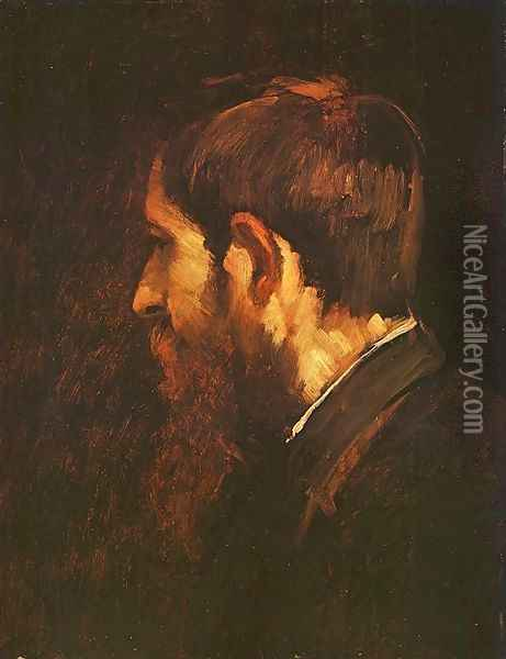 Portrait of Laszlo Paal 1877 Oil Painting - Mihaly Munkacsy