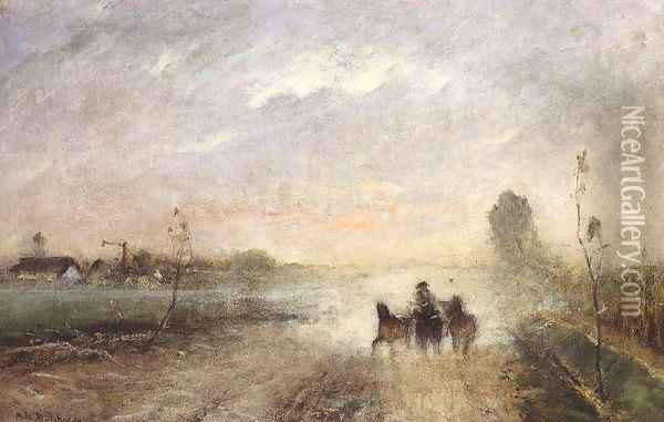 Dusty Country Road I 1874 Oil Painting - Mihaly Munkacsy