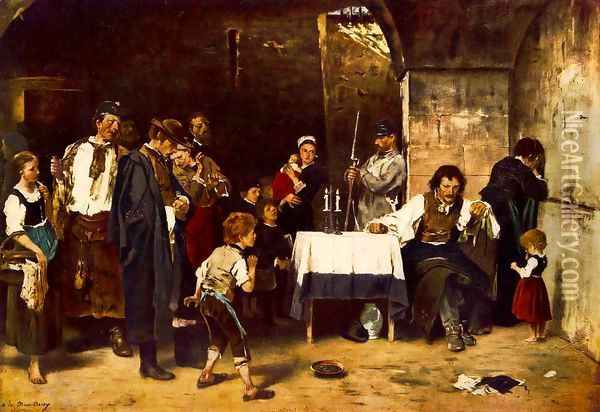 The Condemned Cell II 1880 Oil Painting - Mihaly Munkacsy