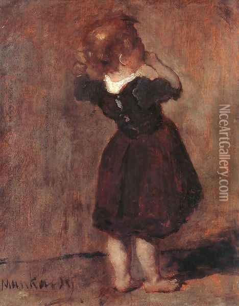 Study Oil Painting - Mihaly Munkacsy