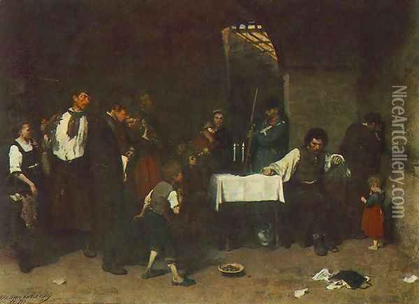 The Condemned Cell 1869 72 Oil Painting - Mihaly Munkacsy