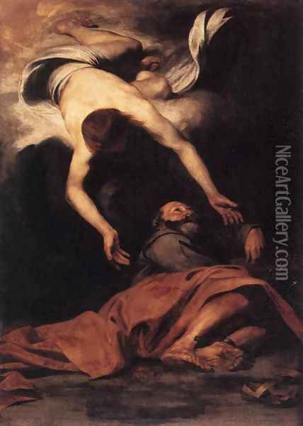 St Peter Freed from Prison c. 1630 Oil Painting - Pier Francesco Mola