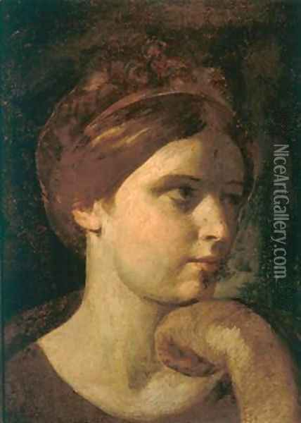 Head of a Young Woman Oil Painting - Pier Francesco Mola