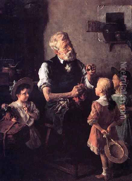 The Dollmaker Oil Painting - Louis Charles Moeller