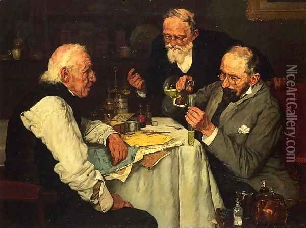The Chemists Oil Painting - Louis Charles Moeller