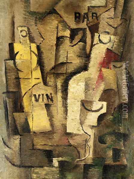 Cubist Composition Oil Painting - Jean Metzinger