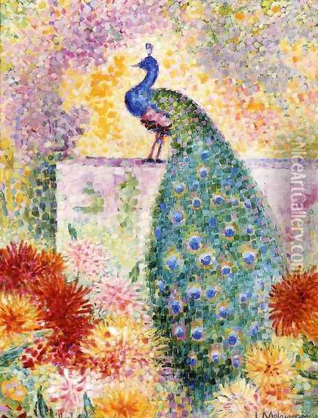 A Peacock Oil Painting - Jean Metzinger