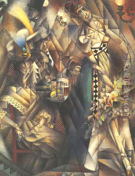 Dancer in a Cafe Oil Painting - Jean Metzinger