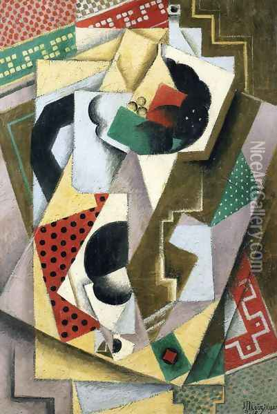 Still Life with Fruit Bowl Oil Painting - Jean Metzinger