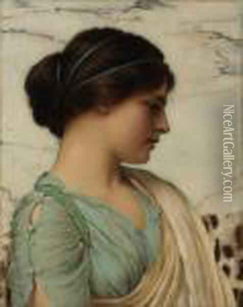 A Classical Beauty Oil Painting - John William Godward