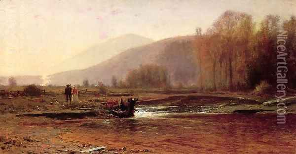 Dusk in the Foothills Oil Painting - Jervis McEntee
