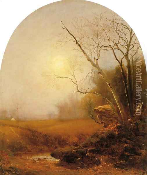 Indian Summer Oil Painting - Jervis McEntee