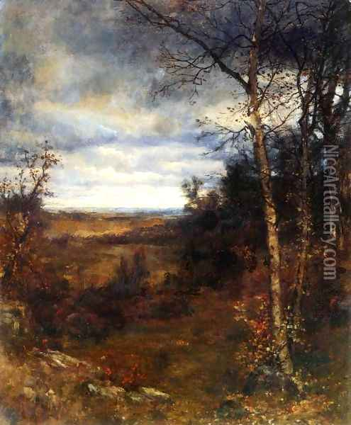 Fall Landscape Oil Painting - Jervis McEntee
