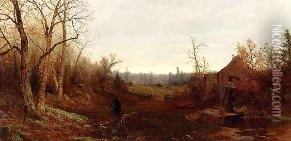 November day, 1863 Oil Painting - Jervis McEntee