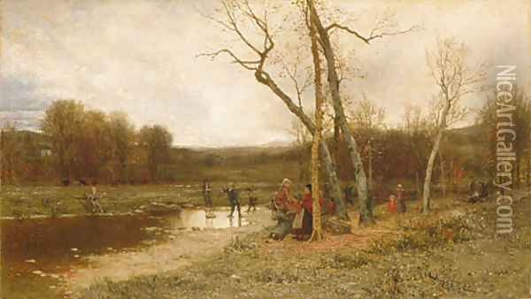 Saturday Afternoon Oil Painting - Jervis McEntee