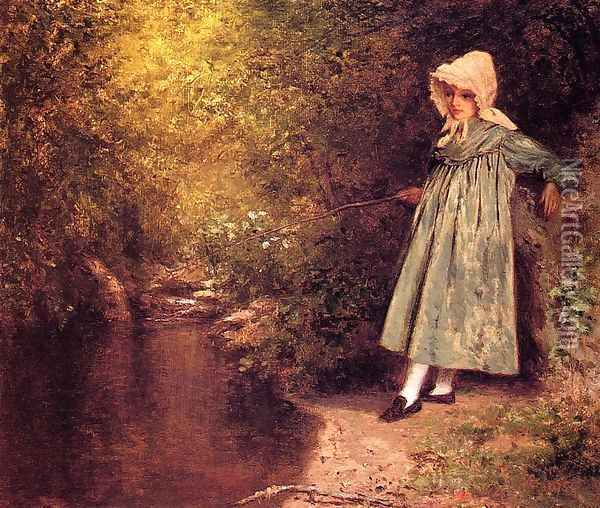 My Little Fisher Girl Oil Painting - Jervis McEntee
