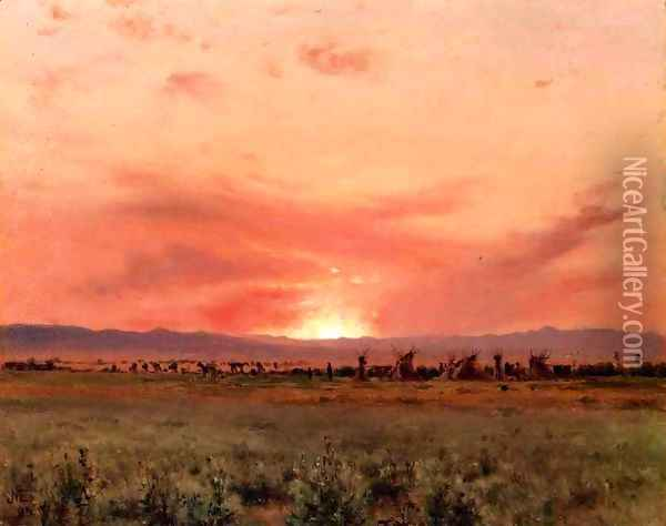 The Far West Oil Painting - Jervis McEntee
