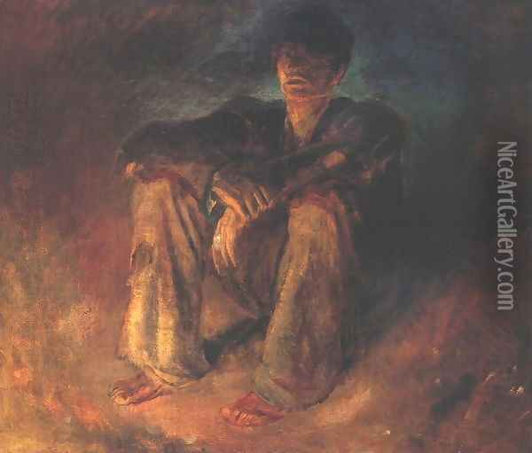 Down-and-out after 1898 Oil Painting - Laszlo Mednyanszky
