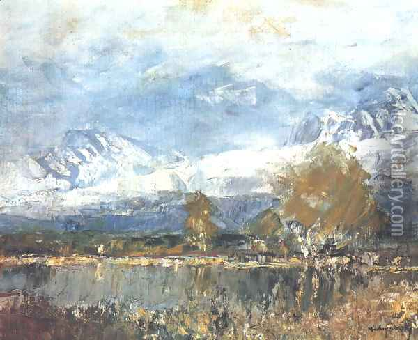 Lake in the Mountains 1895-99 Oil Painting - Laszlo Mednyanszky