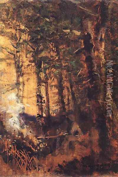 View of the Forest 1890-91 Oil Painting - Laszlo Mednyanszky