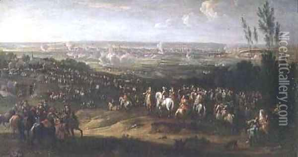 The Siege of Maastricht in 1673 Oil Painting - Adam Frans van der Meulen