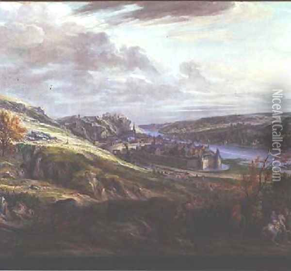 The Siege of the Chateau and Town of Dinant Oil Painting - Adam Frans van der Meulen