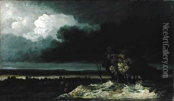 Gathering Storm Oil Painting - Georges Michel