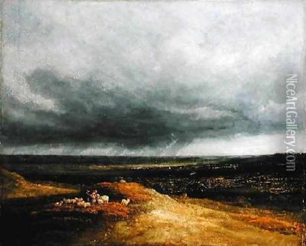 Approaching Storm 1820-25 Oil Painting - Georges Michel