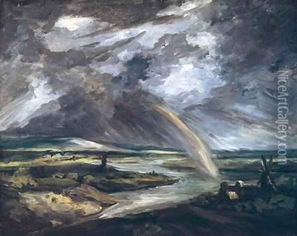 The Storm Oil Painting - Georges Michel
