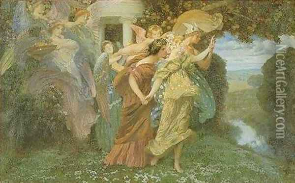 The Marriage of Persephone Oil Painting - Henry Siddons Mowbray
