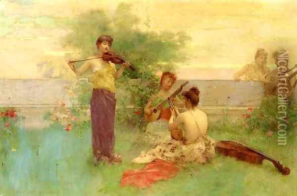 Arcadia Oil Painting - Henry Siddons Mowbray