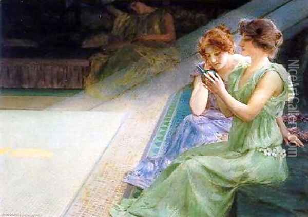 Iridescence Oil Painting - Henry Siddons Mowbray