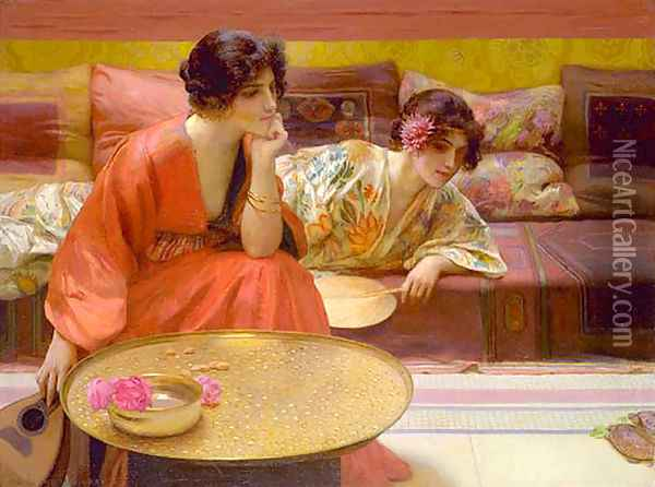 Idle Hours Oil Painting - Henry Siddons Mowbray