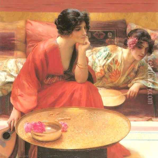 Idle Hours I Oil Painting - Henry Siddons Mowbray