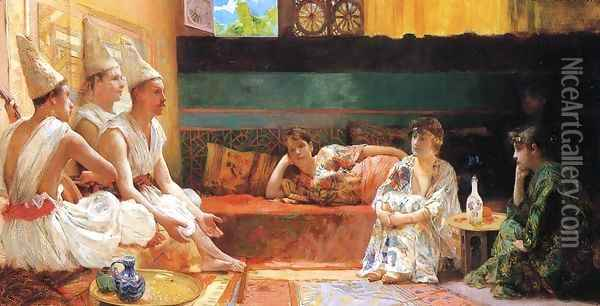 The Calenders Oil Painting - Henry Siddons Mowbray