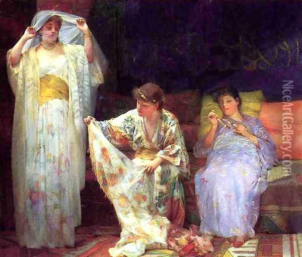 The Harem Oil Painting - Henry Siddons Mowbray