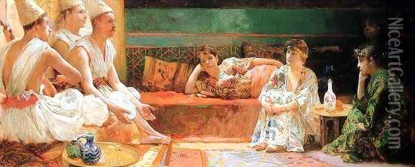 The Calendars Oil Painting - Henry Siddons Mowbray