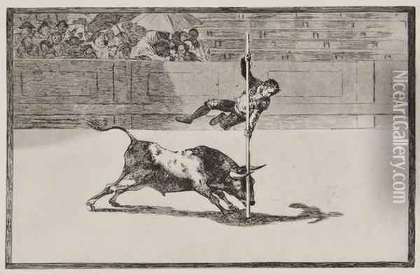 The Agility And Audacity Of Juanito Apinani Oil Painting - Francisco De Goya y Lucientes
