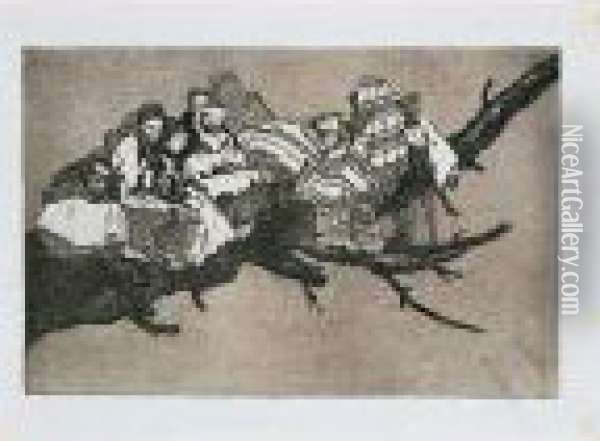 Los Proverbios O Los Disparates Oil Painting - Francisco De Goya y Lucientes