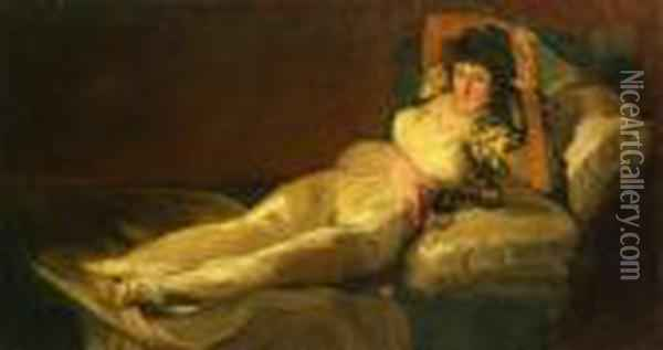 Maja Vestida Oil Painting - Francisco De Goya y Lucientes