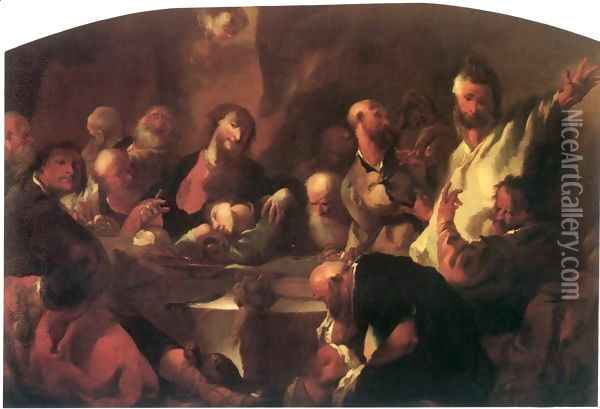 The Last Supper 1760 Oil Painting - Franz Anton Maulbertsch