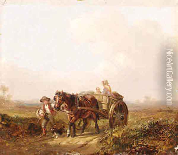 Travelling Along a Country Road Oil Painting - William Mulready