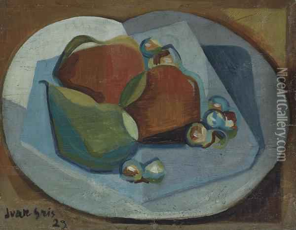 Nature Morte Avec Fruits Oil Painting - Juan Gris