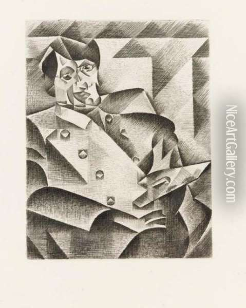Ritratto Di Picasso Oil Painting - Juan Gris