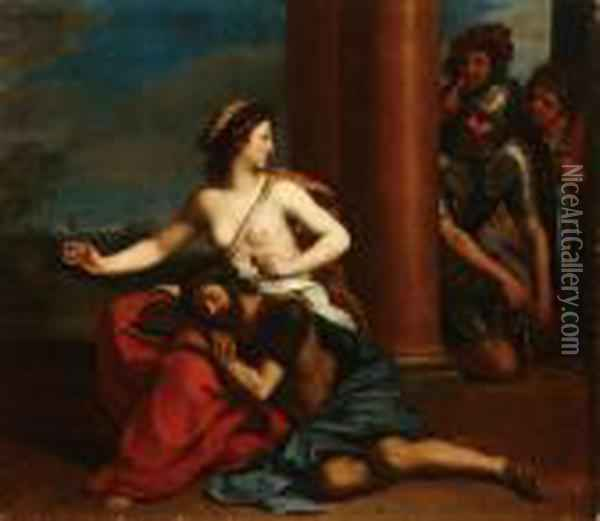 Samson And Delilah Oil Painting - Guercino