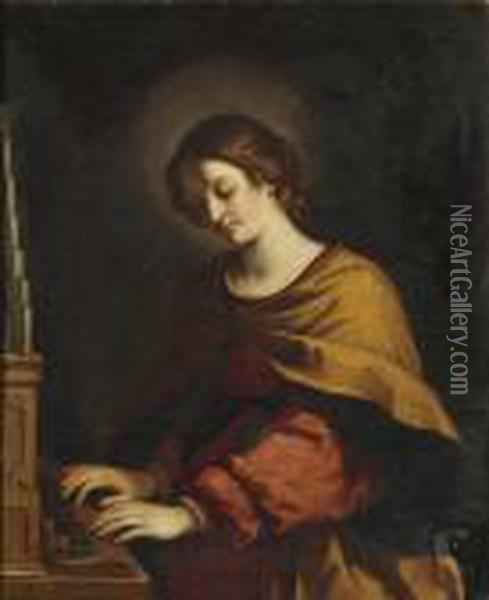 St. Cecilia Oil Painting - Guercino