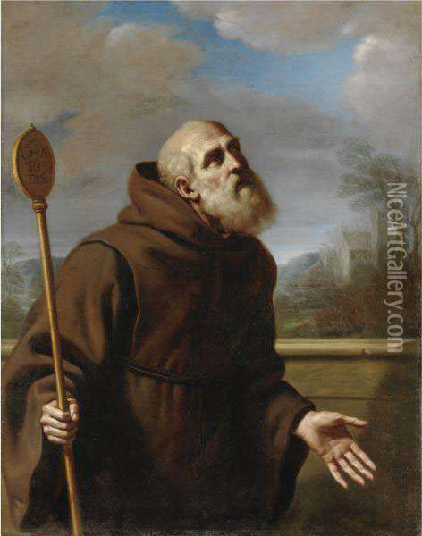 San Francesco Da Paola Oil Painting - Guercino