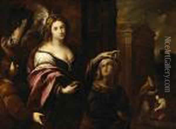 The Parable Of The Rich Courtesan Oil Painting - Guercino