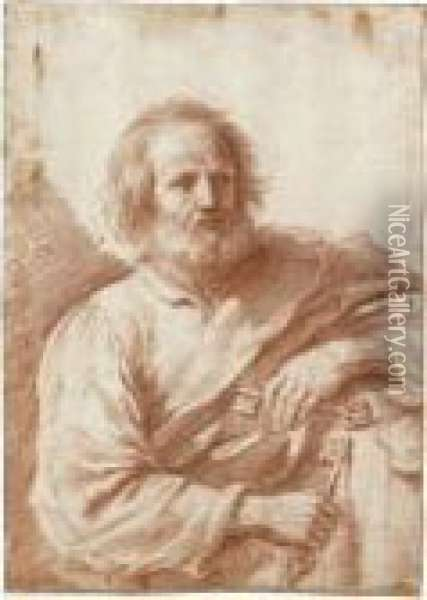 Saint Peter Oil Painting - Guercino