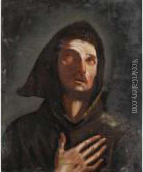 San Francesco Oil Painting - Guercino